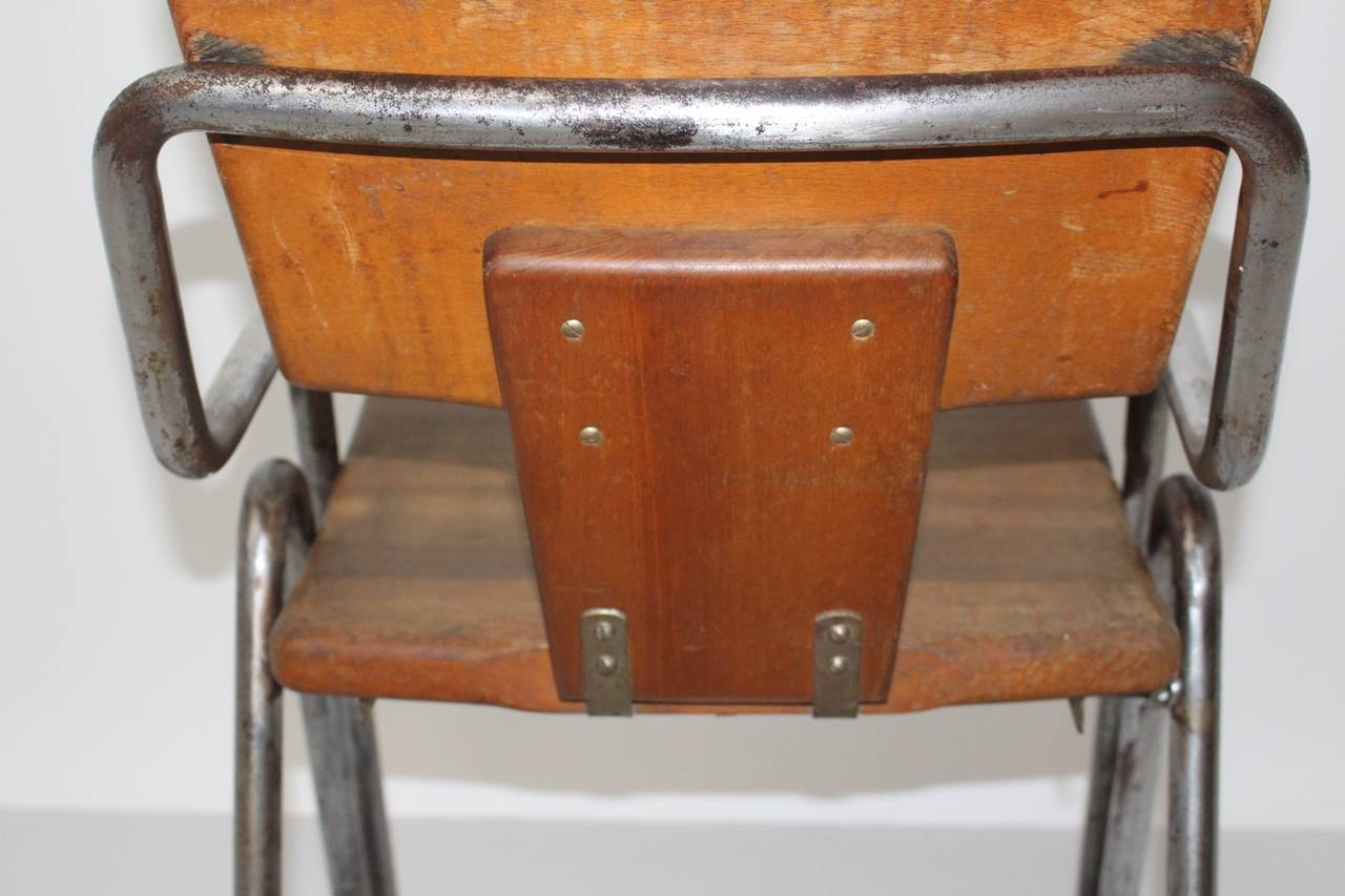 Peter Behrens Bauhaus Industrial Tubular Steel Chair Germany, circa 1930 For Sale 2