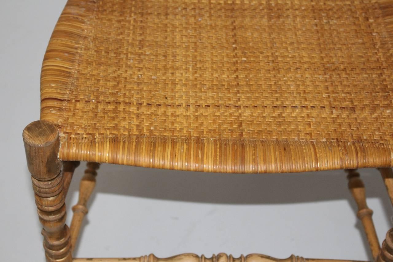 Italian Mid Century Modern Beechwood Extra High Back Chiavari Chair Italy 1940s For Sale