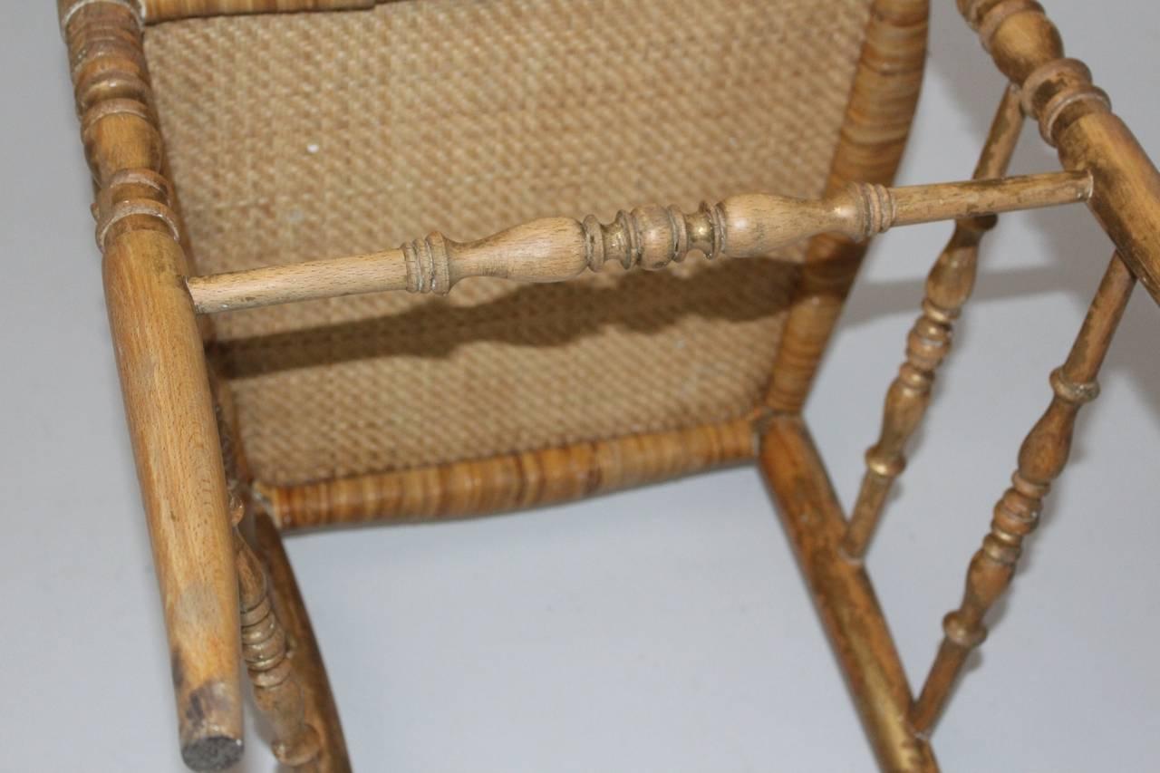 Mid Century Modern Beechwood Extra High Back Chiavari Chair Italy 1940s For Sale 1