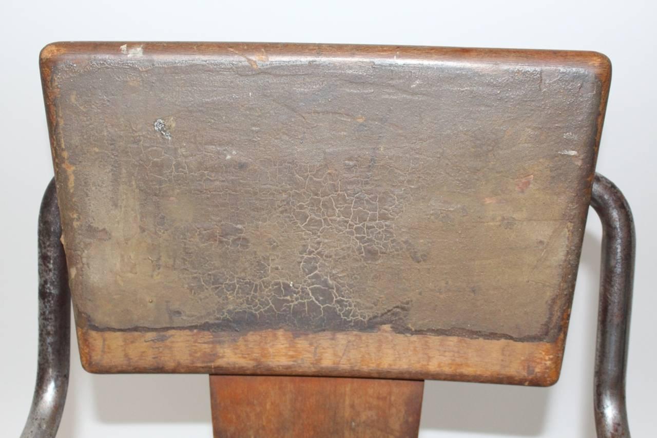 Peter Behrens Bauhaus Industrial Tubular Steel Chair Germany, circa 1930 For Sale 4