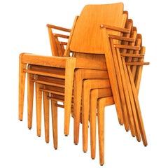 Beechwood Vintage Dining Chairs Austro by Franz Schuster Vienna 1959