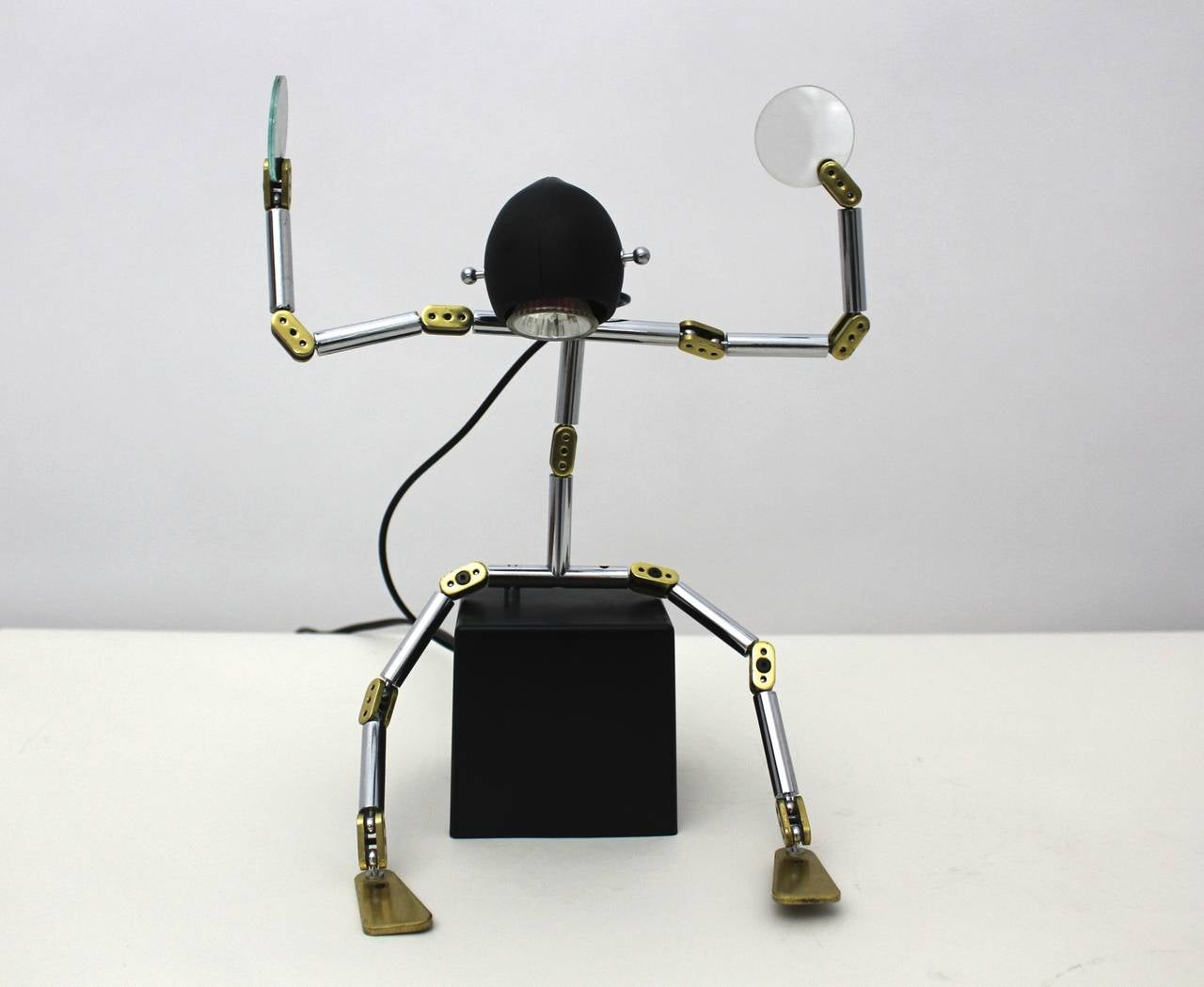 20th Century Post Modern Metal Brass Light Object