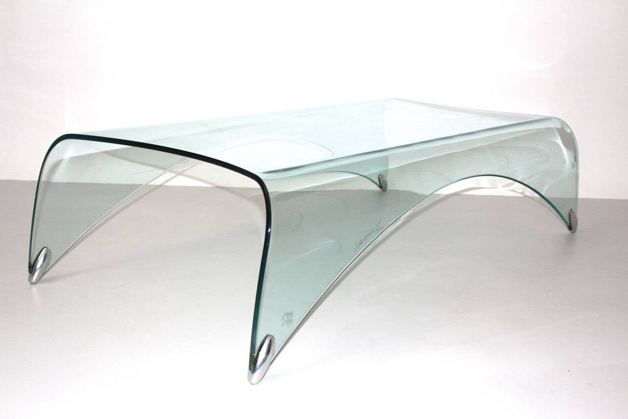 Modern Glass Vintage Coffee Table Genio by Massimo Iosa Ghini Italy 20th Century In Good Condition For Sale In Vienna, AT