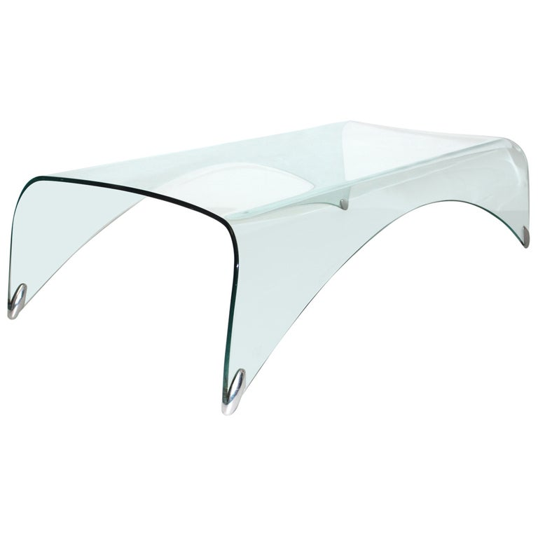 Modern Glass Vintage Coffee Table Genio By Massimo Iosa