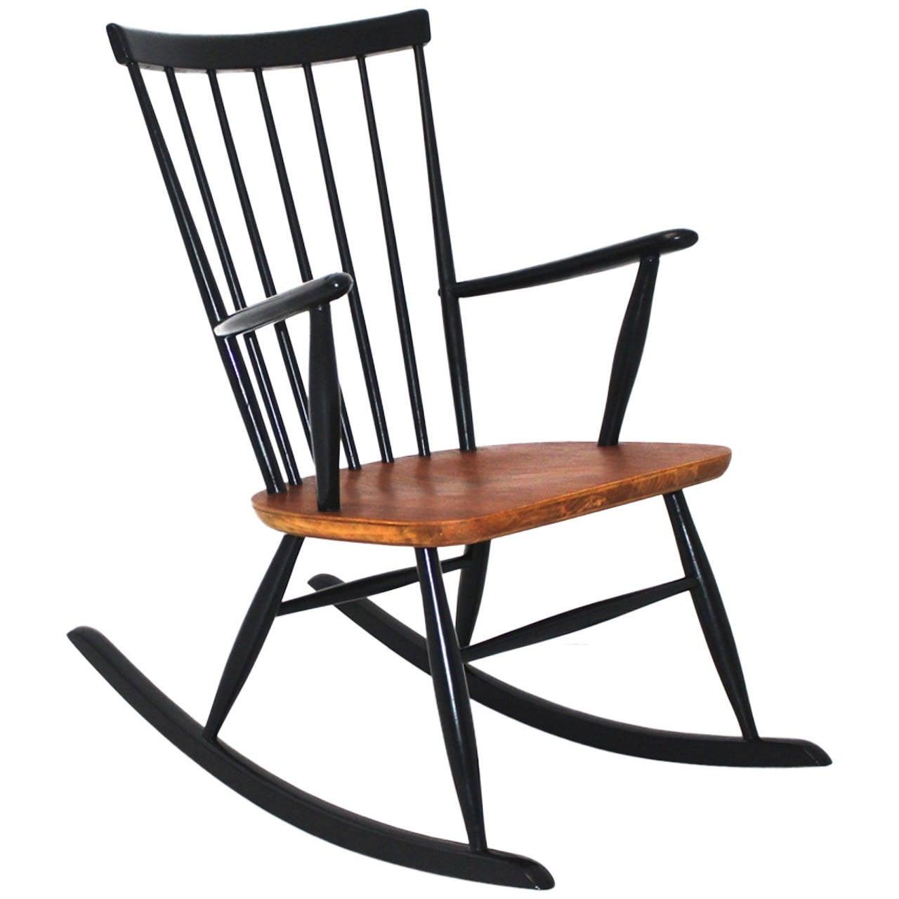 Rocking Chair By Roland Rainer Circa 1958, Vienna, Austria For Sale