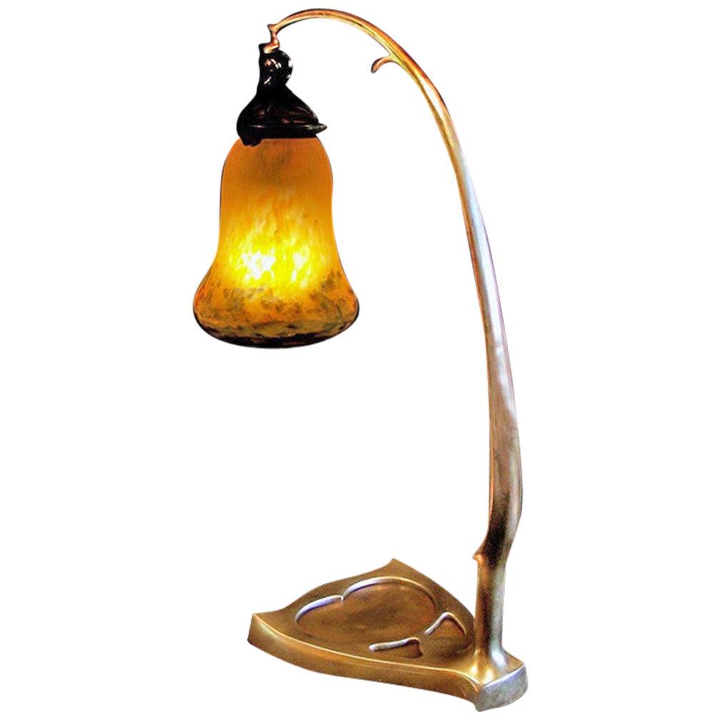 Desk Light For Art: Art Nouveau Muller Frères Desk Lamp, C.1910. At 1stdibs