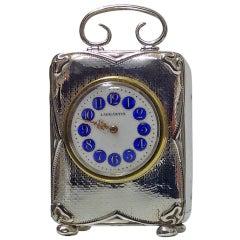 Art Nouveau Silver Carriage Clock, Birmingham, 1911