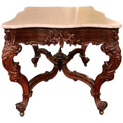 19th Century Rococo Rosewood Center Table