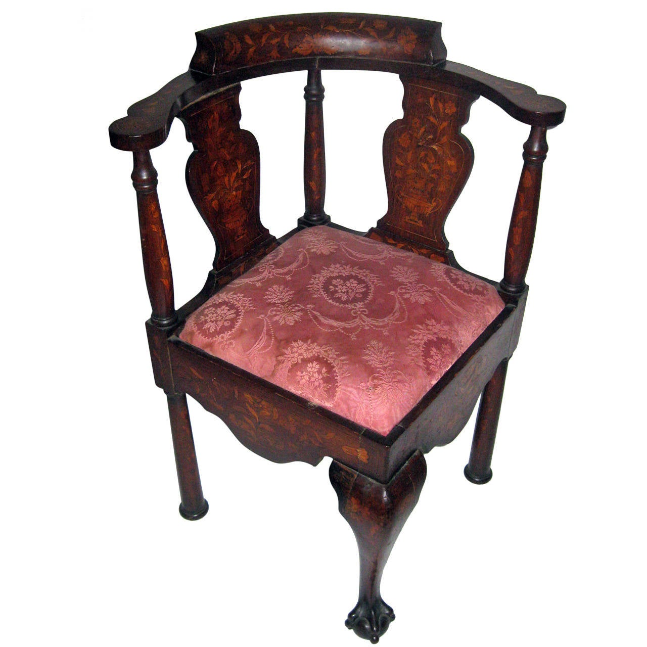18th Century Chippendale Style Corner Chair For Sale At 1stdibs