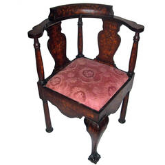 18th Century Chippendale Style Corner Chair