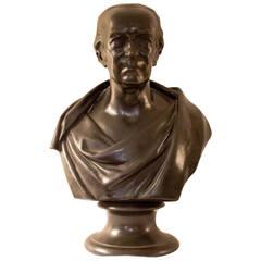 19th Century Wedgwood Black Basalt Bust of James Watt