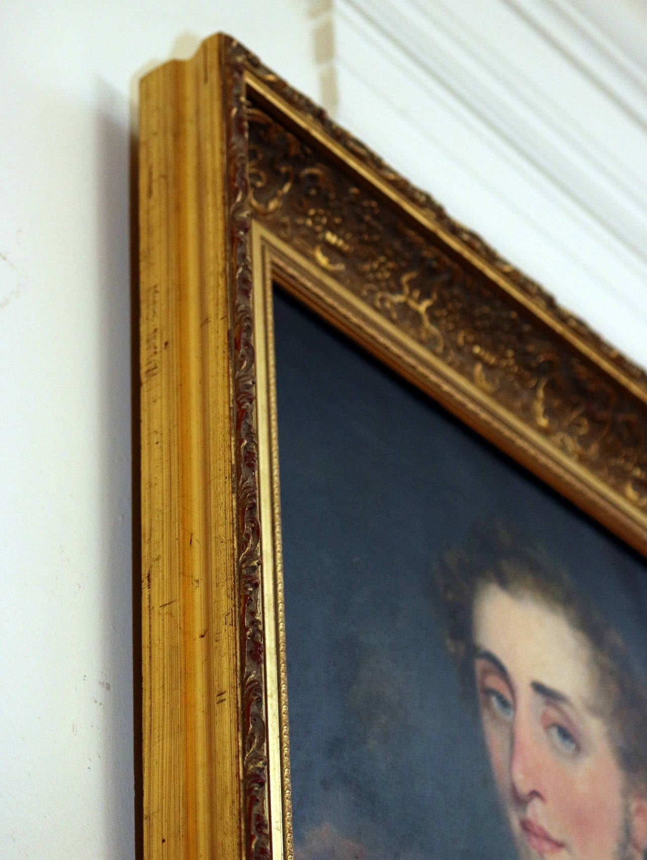 19th Century Nautical Portrait Oil Painting in Giltwood Frame For Sale 1