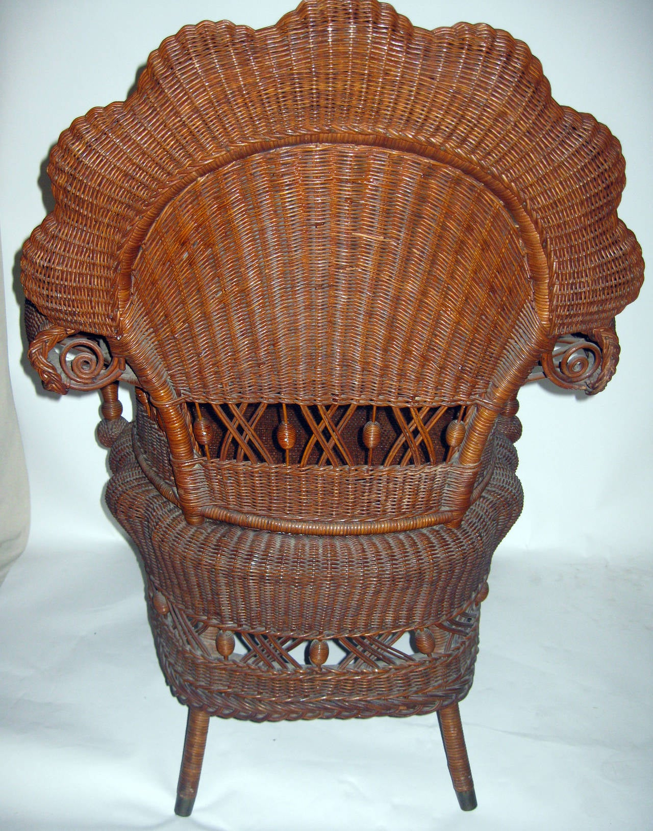 Late 19th Century 19th Century American Wicker Heywood Brothers Armchair