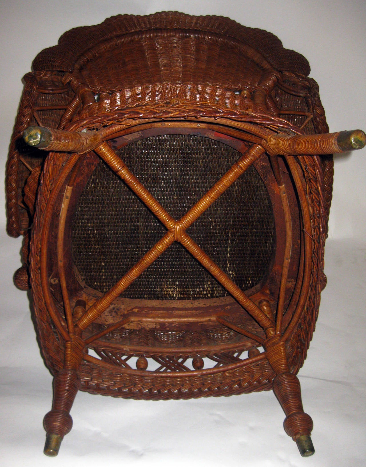 19th Century American Wicker Heywood Brothers Armchair 3