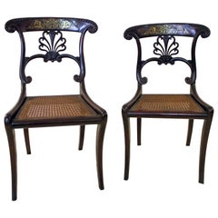 19th century Regency Mahogany Chairs with Boulle Marquetry