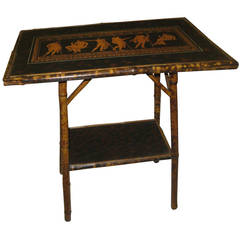 Edwardian Tiger Bamboo Side Table