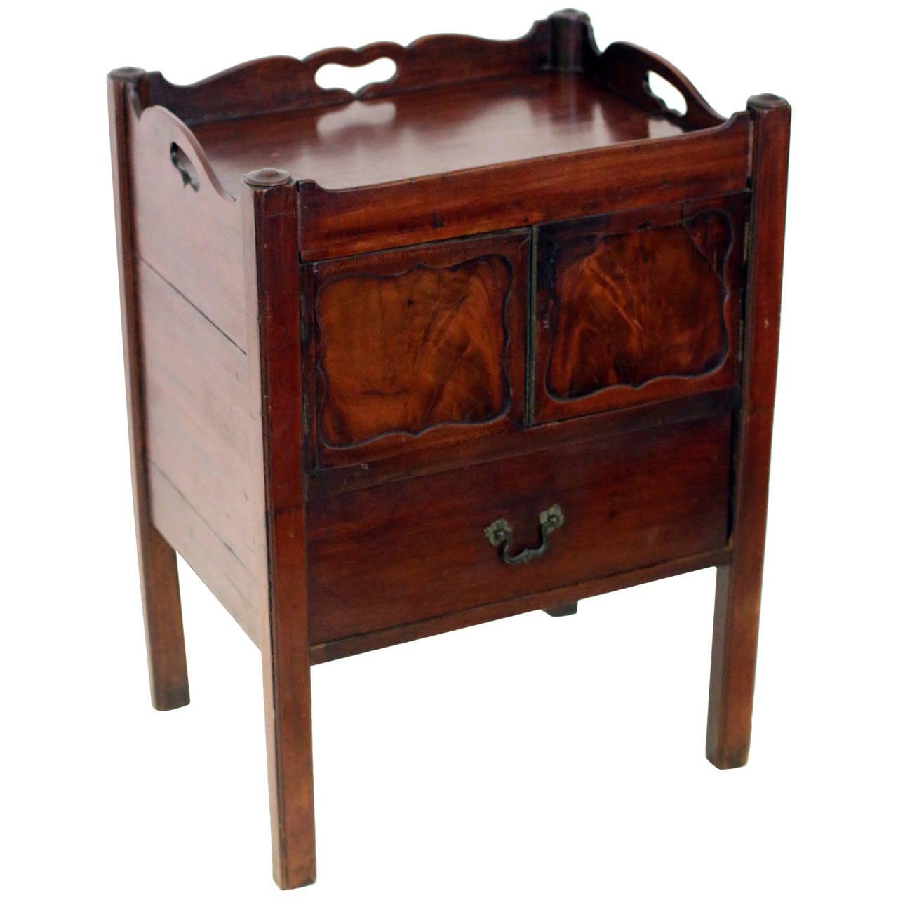 Georgian Mahogany Bedside Table Commode