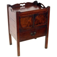 Georgian Mahogany English Bedside Table Commode