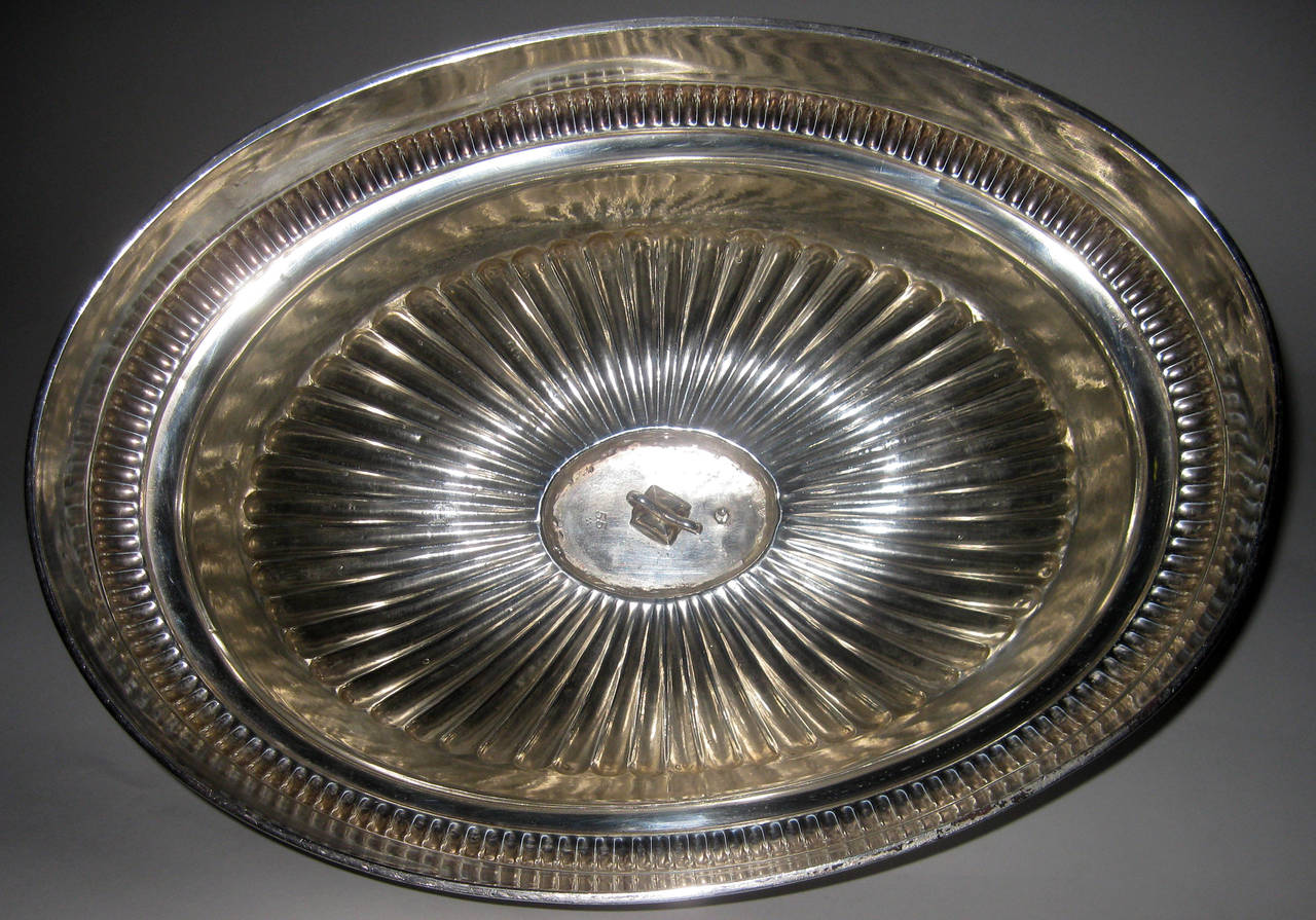 Silver Plate 19th century English Sheffield Meat Dome For Sale