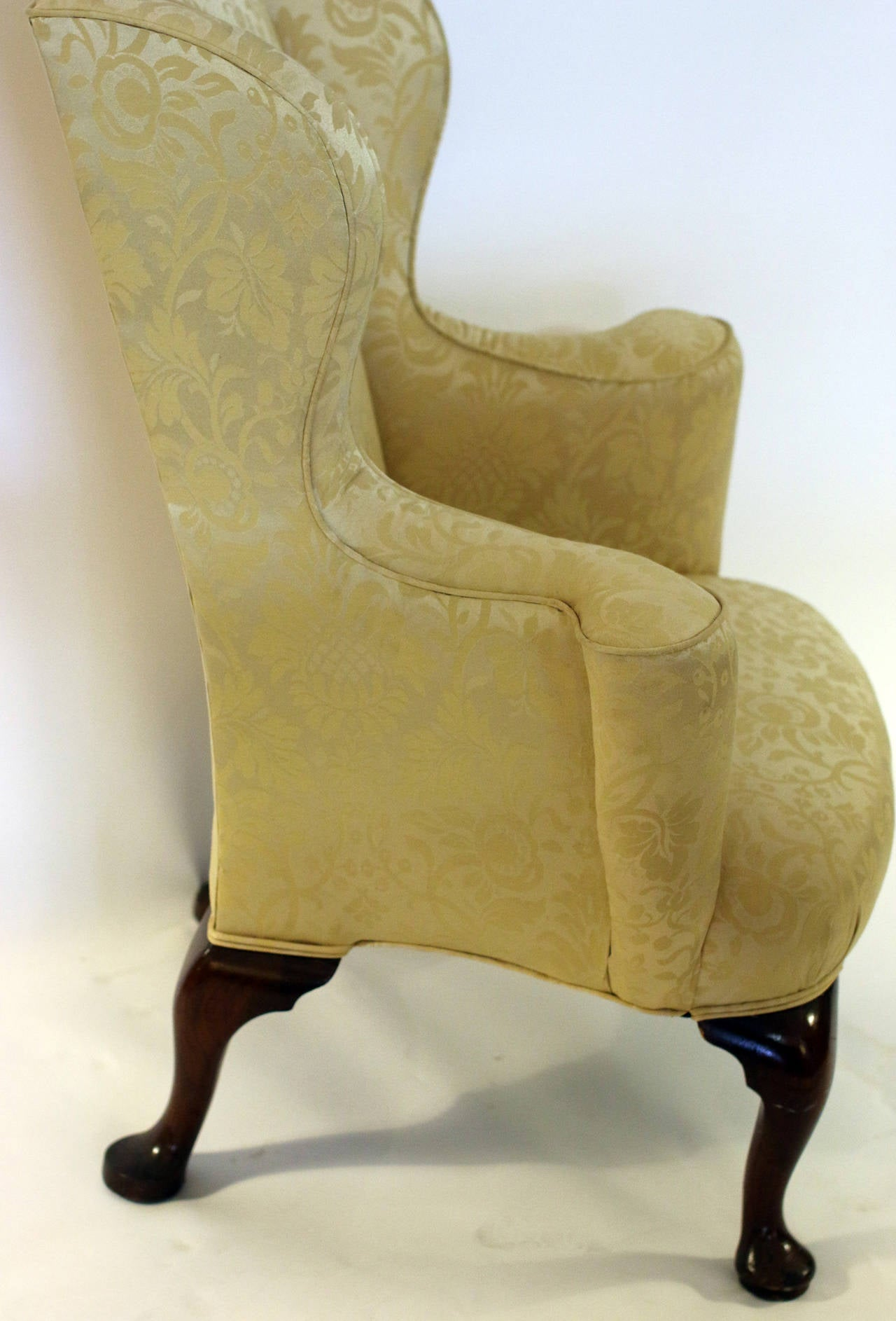 18th Century English Georgian Wingback Chair For Sale At