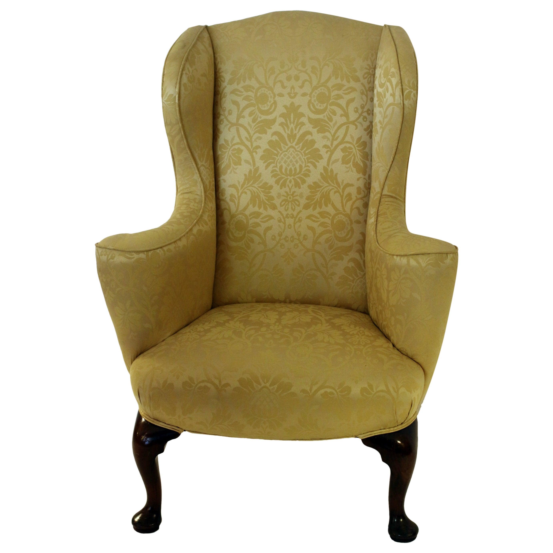18th century English Georgian Petite Wingback Chair