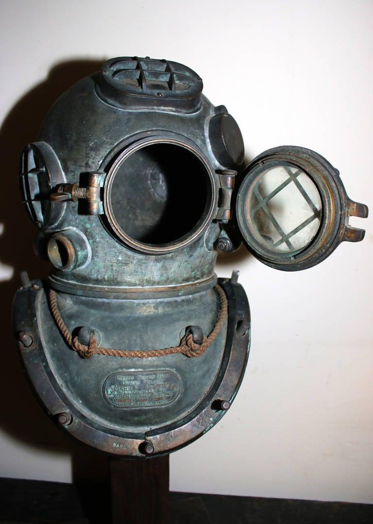 U.S. Navy Diving Helmet Mark V at 1stdibs