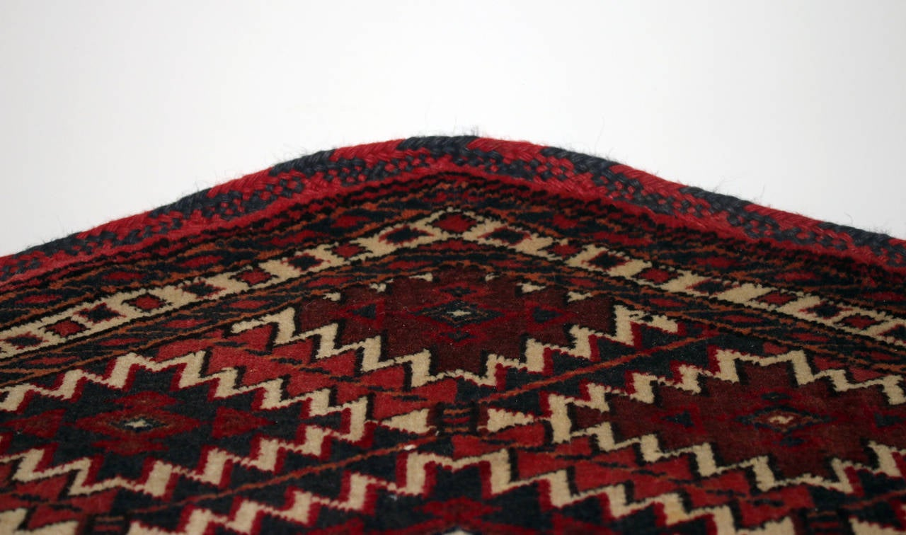 Antique Turkoman Camel Trapping Textile Wall Hanging For
