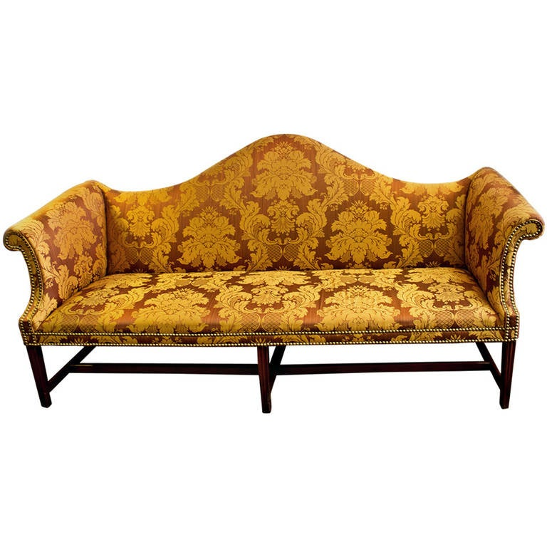 18th Century American Chippendale Camelback Sofa At 1stdibs