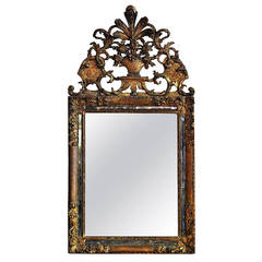 Early 18th Century French Baroque Gilt Mirror