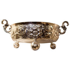 Art Nouveau English Sterling Silver Bowl