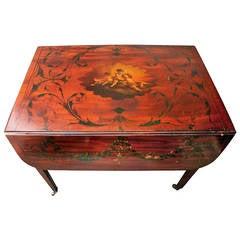 19th Century Mahogany with Inlay Pembroke Table