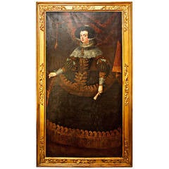 18th Century Oil Painting of Queen Isabella
