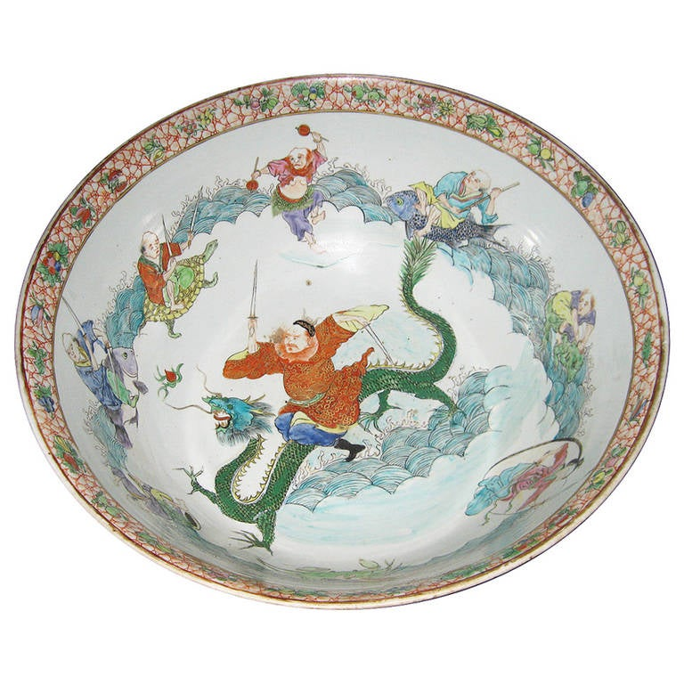19th Century Chinese Porcelain Punch Bowl