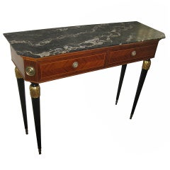 20th century Italian Mahogany and Inlaid Kingswood Console Table