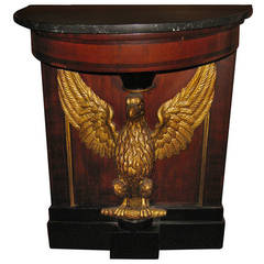 19th Century American Federal Style Mahogany Console Table