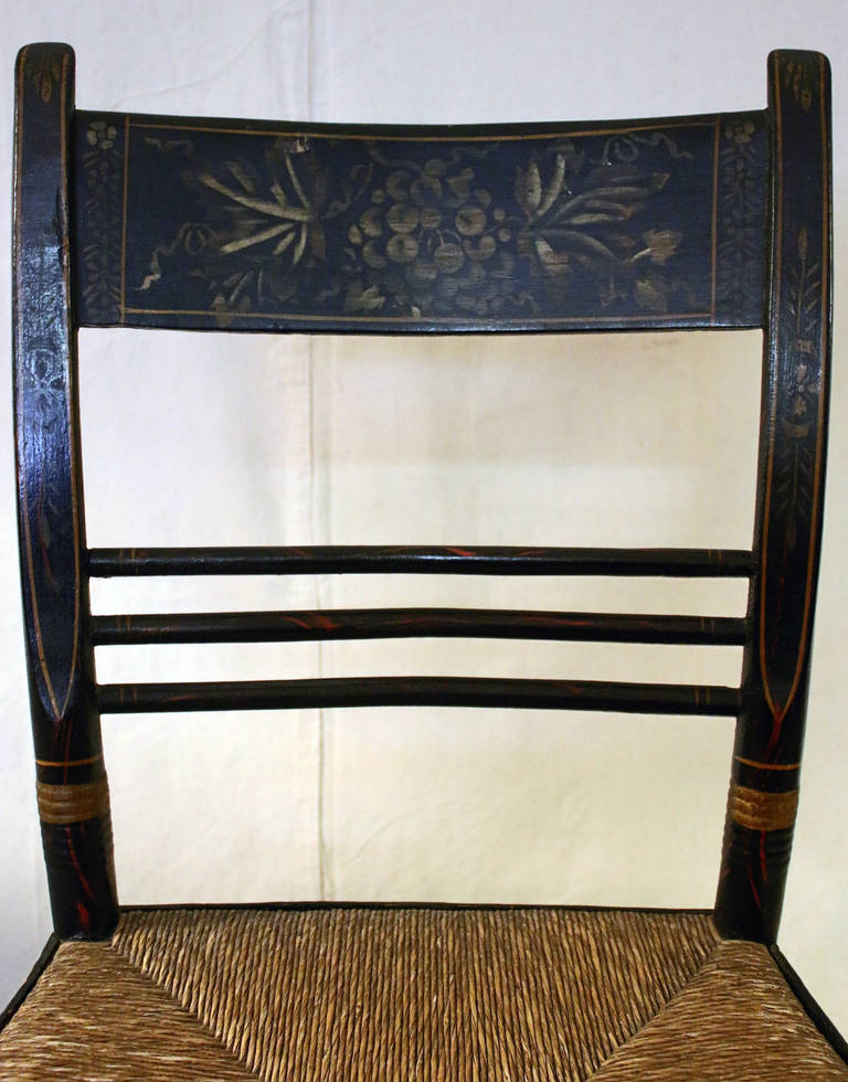 19th Century 19th century Painted Maple Hitchcock Chair