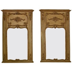 Pair of 19th century Giltwood French Trumeau Mirror