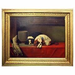 King Charles Cavalier Spaniels Oil Painting