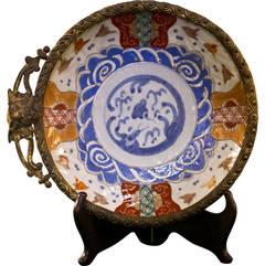 19th Century Imari Shaving Bowl
