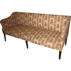 18th Century Hepplewhite Sofa in Scalamandre Upholstery