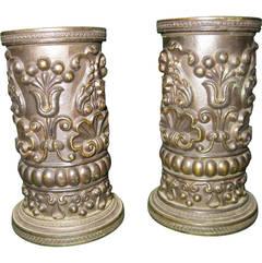 English Regency Bronze Petite Spill Vases