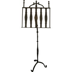 19th century Hand-Forged Metal English Music or Folio Stand