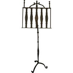 19th Century Hand-Forged English Music Stand