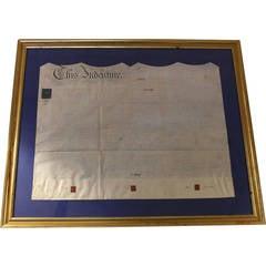 19th Century Framed English Legal Document