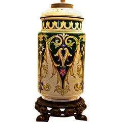 19th Century Aesthetic Movement William Morris Style Table Lamp