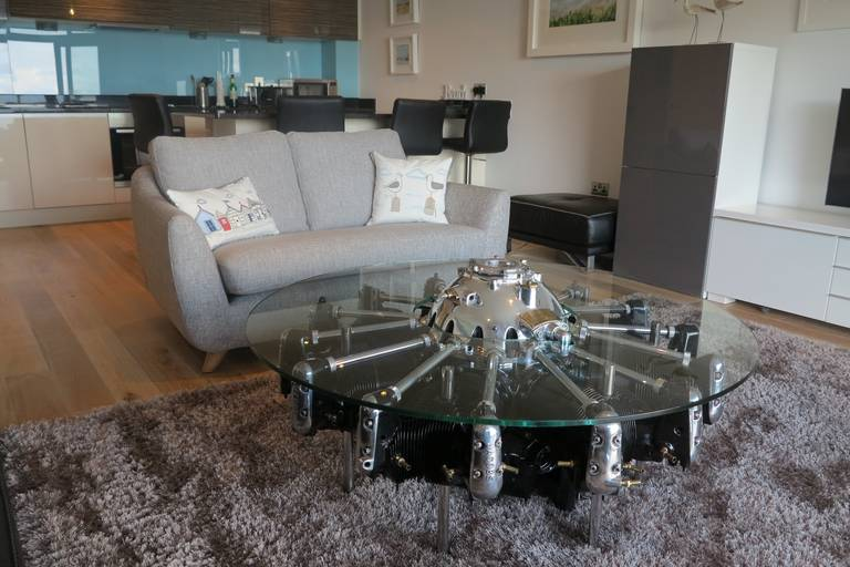 Jacobs Radial Aircraft Engine Table At 1stdibs