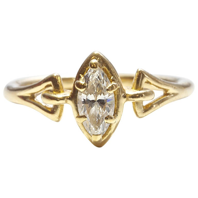Cartier Paris Diamond Gold Engagement Ring at 1stdibs