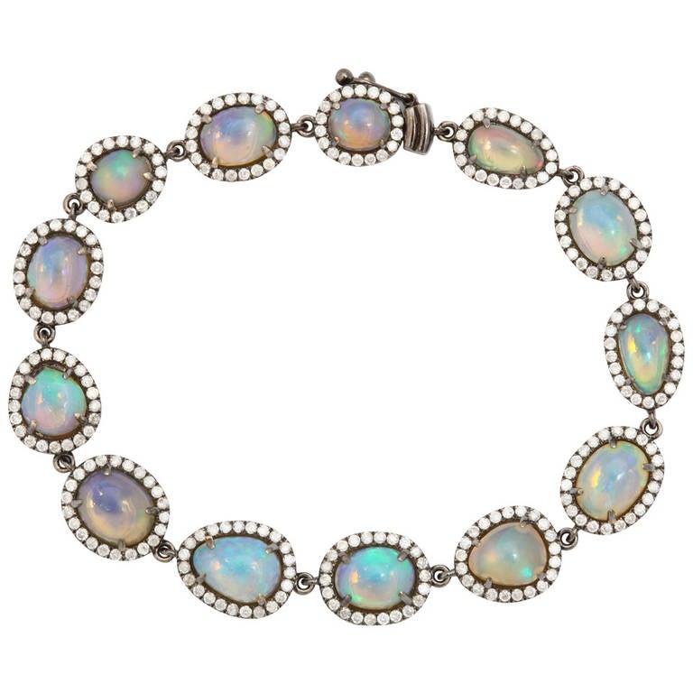 opal gold bracelet for sale at 1stdibs