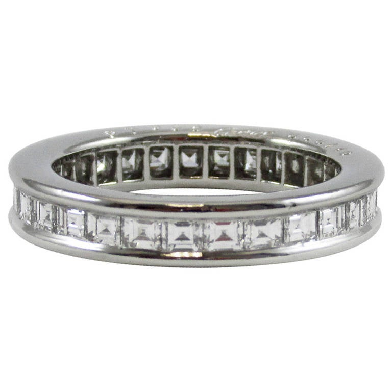 cartier platinum eternity band at 1stdibs