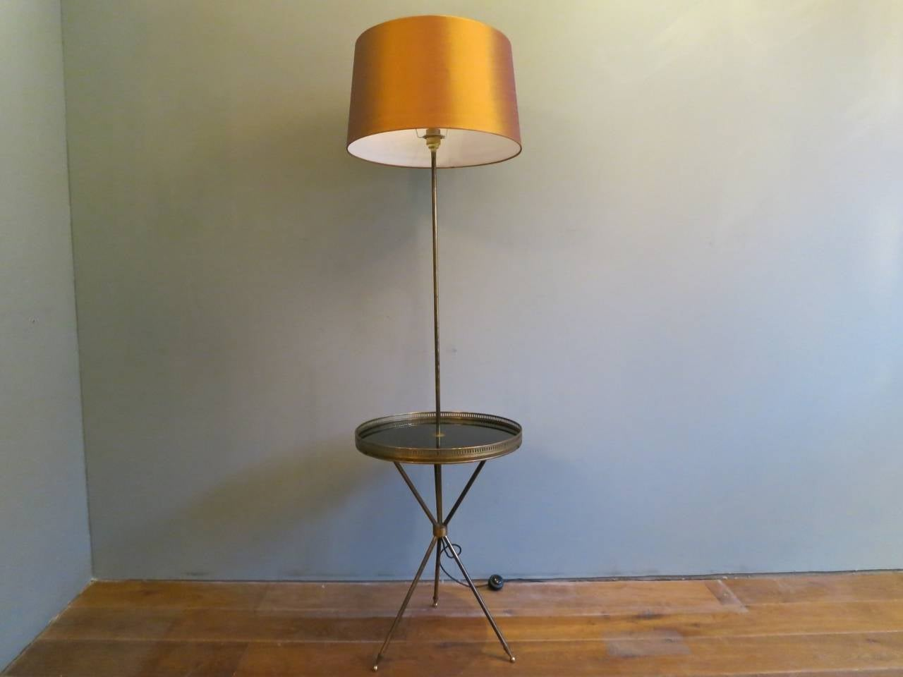 french floor lamp with table at 1stdibs. Black Bedroom Furniture Sets. Home Design Ideas